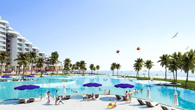 Dự án có bể bơi dài nửa cây số bên bờ biển Bãi Dài, Cam Ranh - Ảnh 1.