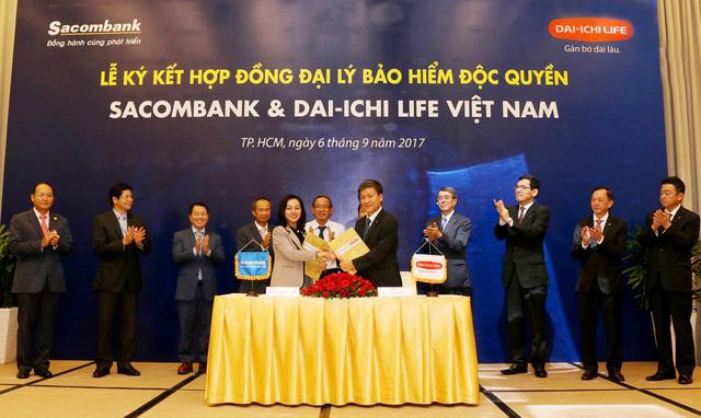 Hợp tác bancassurance Sacombank và Dai-ichi Life VN vượt kỳ vọng   - Ảnh 1.