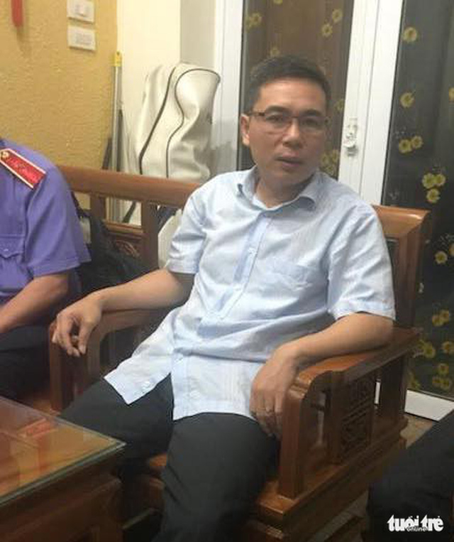 Công an khám nhà ông Phạm Đình Trọng - Ảnh 3.