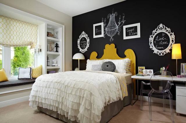Sáng tạo trong trang trí phòng ngủ với bảng đen - Ảnh 3.