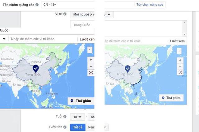 Facebook đã bỏ Trường Sa, Hoàng Sa khỏi bản đồ Trung Quốc 1