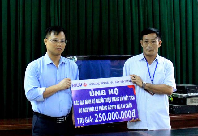 BIDV hỗ trợ gia đình các nạn nhân lũ quét tại Lai Châu, Hà Giang - Ảnh 1.