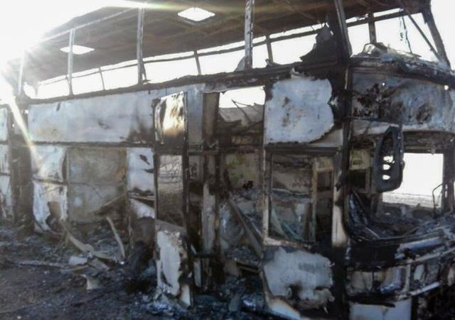 52 công nhân chết thảm trong xe buýt cháy ở Kazakhstan - Ảnh 1.