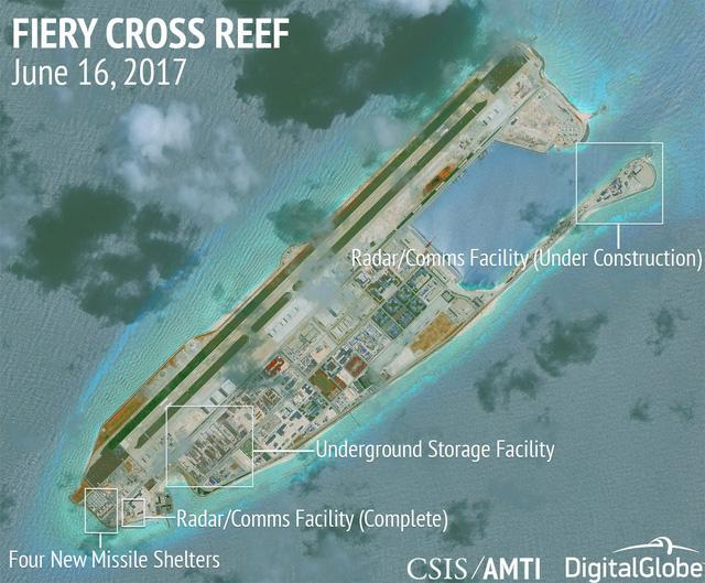 Mỹ tố Bắc Kinh 'quân sự hóa đầy khiêu khích' ở biển Đông - Ảnh 1.