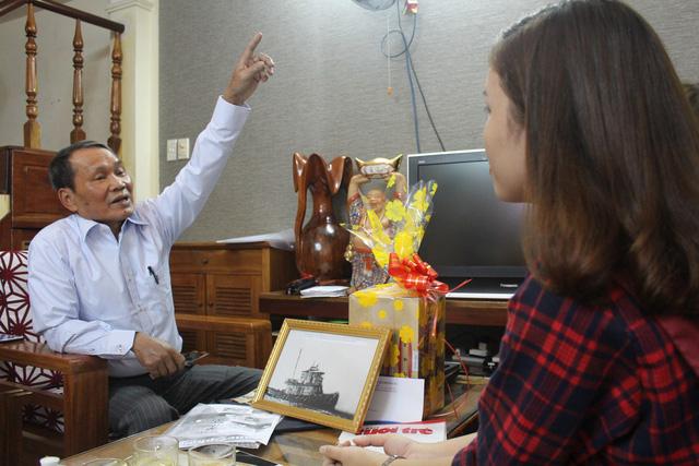 UBND huyện Hoàng Sa thăm 15 nhân chứng sống Hoàng Sa - Ảnh 1.