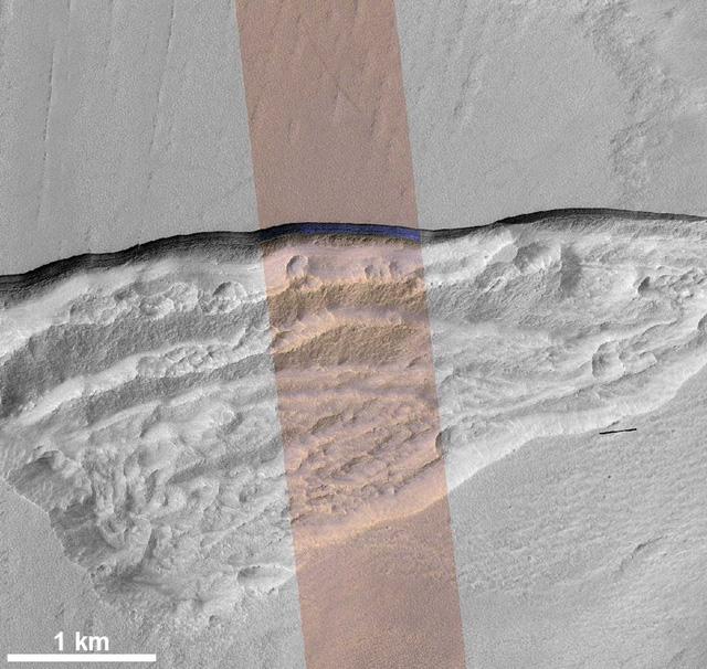 Phát hiện lớp băng khổng lồ dưới bề mặt sao Hỏa - Ảnh 2.