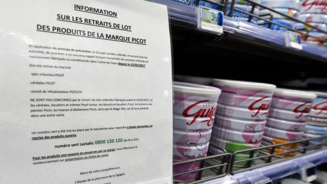 Sữa nhiễm khuẩn salmonella của Pháp ảnh hưởng đến 83 quốc gia - ảnh 1