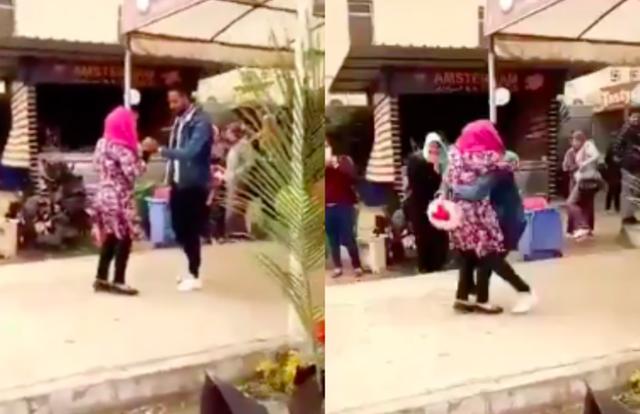 Ôm bạn trai sau khi được cầu hôn, nữ sinh viên Ai Cập bị đuổi học - Ảnh 1.