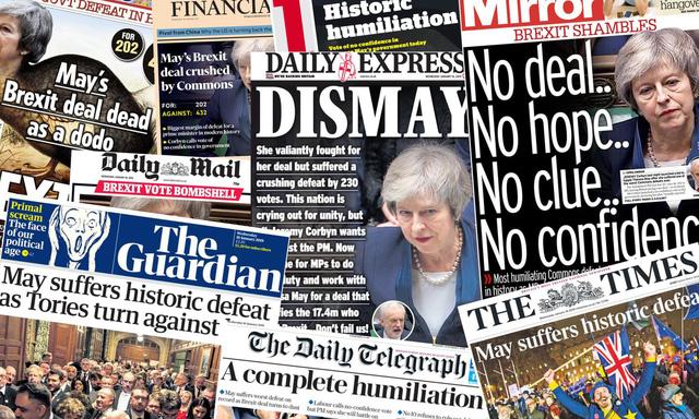 Báo Anh chỉ trích bà May sau thảm họa dự thảo Brexit - Ảnh 1.