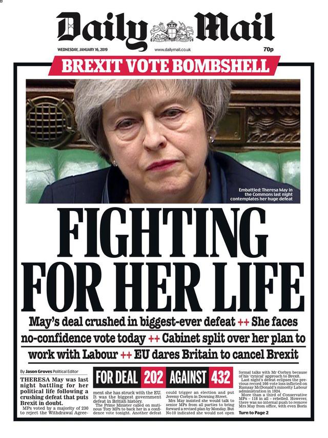 Báo Anh chỉ trích bà May sau thảm họa dự thảo Brexit - Ảnh 8.