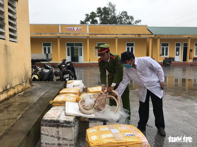 Bắt xe chở 709kg thịt thối đi vào miền Nam tiêu thụ - Ảnh 1.