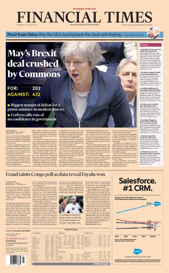 Báo Anh chỉ trích bà May sau thảm họa dự thảo Brexit - Ảnh 3.