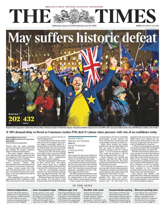 Báo Anh chỉ trích bà May sau thảm họa dự thảo Brexit - Ảnh 6.