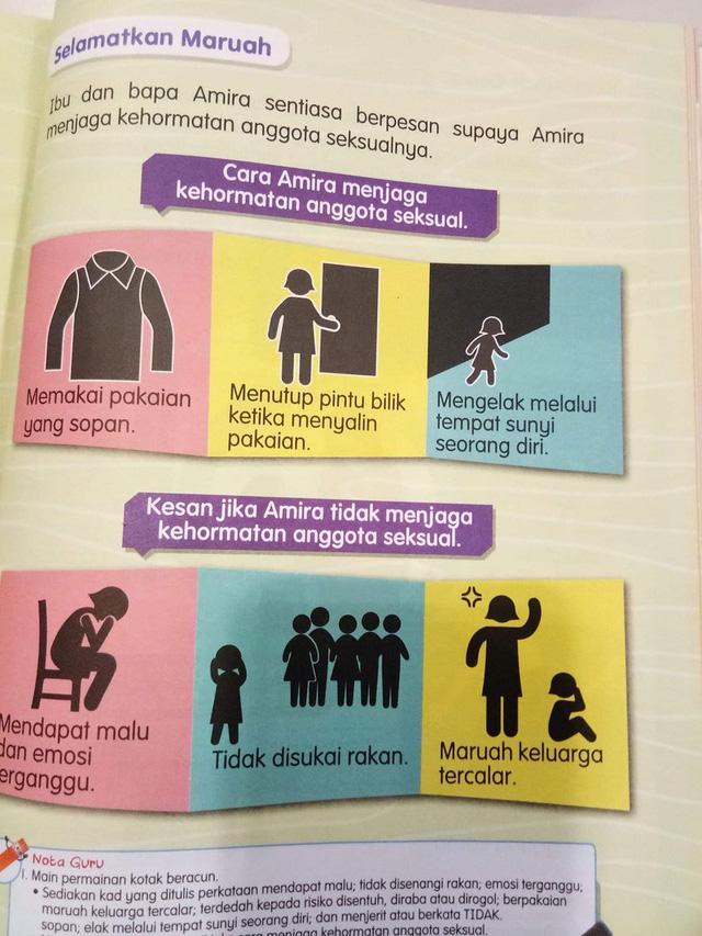 Dư luận Malaysia chỉ trích sách giáo dục giới tính cho học sinh - Ảnh 1.