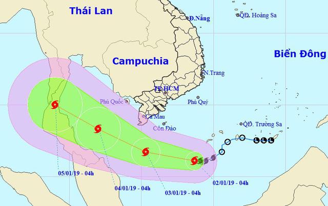 Bão số 1 đang tiến gần bờ các tỉnh Nam Bộ - Ảnh 1.