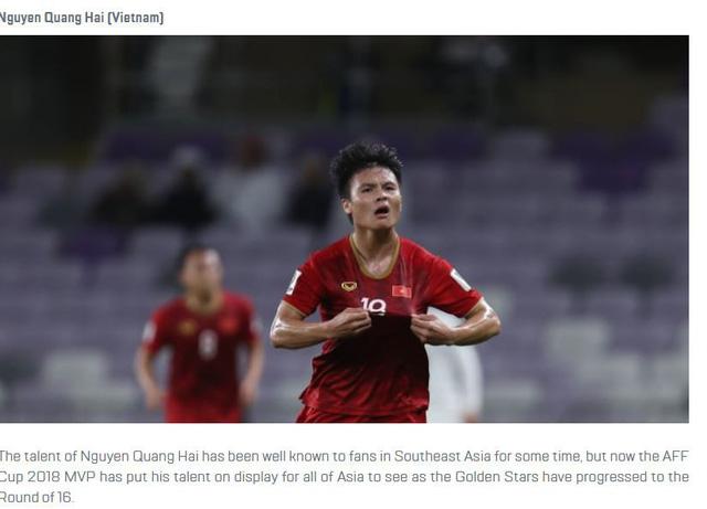 Quang Hải dẫn đầu cuộc bình chọn Cầu thủ hay nhất vòng bảng Asian Cup - Ảnh 1.
