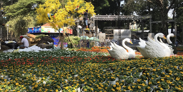 Nhiều tiểu cảnh hoa mới lạ tại Hội hoa xuân Kỷ Hợi - Ảnh 3.
