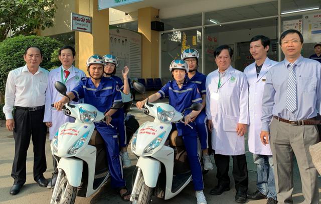TP.HCM có thêm Bệnh viện quận 2 cấp cứu bằng xe hai bánh - Ảnh 1.
