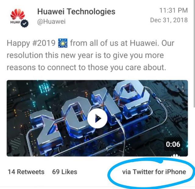 Huawei phạt nặng 2 nhân viên xài iPhone chúc tết - Ảnh 1.