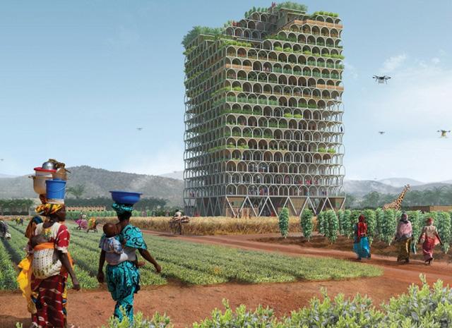 Nông trại chọc trời có thể nuôi sống cả một thị trấn ở châu Phi - Ảnh 1.