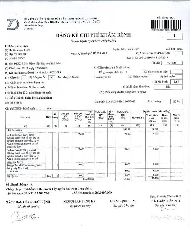 Bệnh viện Đa khoa khu vực Thủ Đức thu tiền xét nghiệm BHYT sai quy định - Ảnh 2.