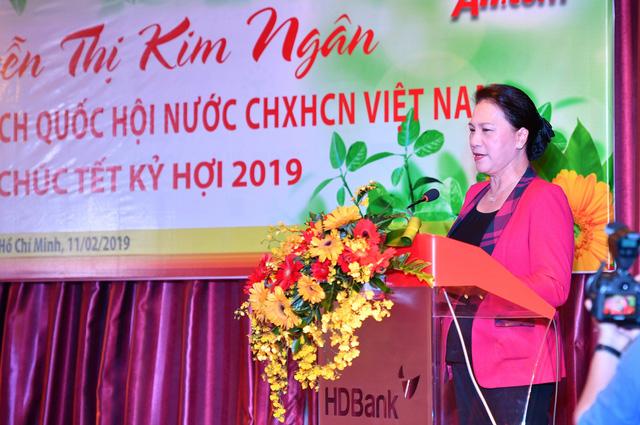 Chủ tịch Quốc hội thăm, chúc Tết HDBank, Vietjet - Ảnh 3.