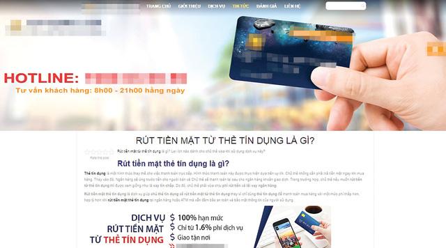 Nở rộ dịch vụ giúp rút tiền mặt từ thẻ tín dụng - Ảnh 2.