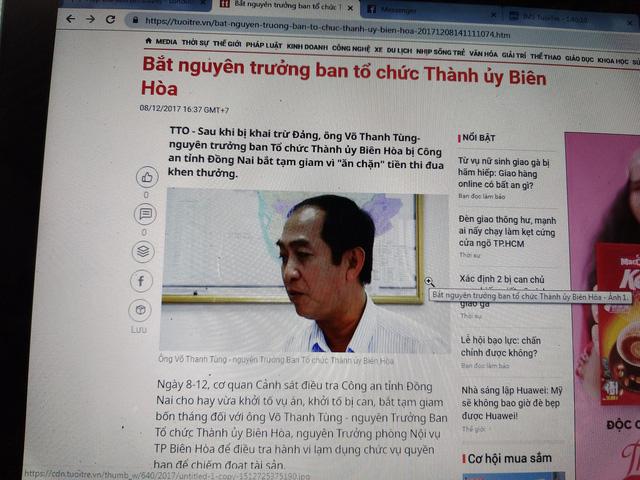 Truy tố nguyên trưởng ban tổ chức Thành ủy Biên Hòa vì ăn chặn tiền thi đua - Ảnh 1.