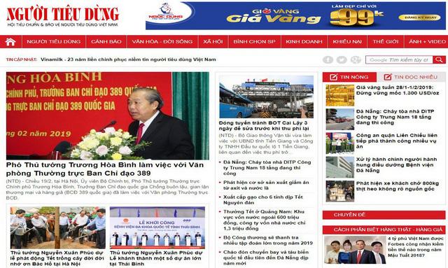 Báo điện tử Người Tiêu Dùng bị rút giấy phép hoạt động 3 tháng - Ảnh 1.