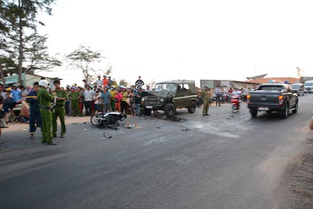Tông trực diện xe jeep, 2 chiến sĩ phòng cháy chữa cháy tử vong - Ảnh 2.