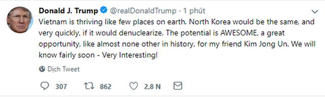 Tổng thống Trump gọi nhà lãnh đạo Triều Tiên Kim Jong Un là người bạn của tôi - Ảnh 2.
