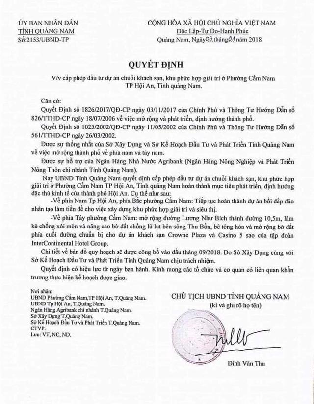 Giả văn bản chủ tịch tỉnh Quảng Nam để thổi giá đất - Ảnh 1.