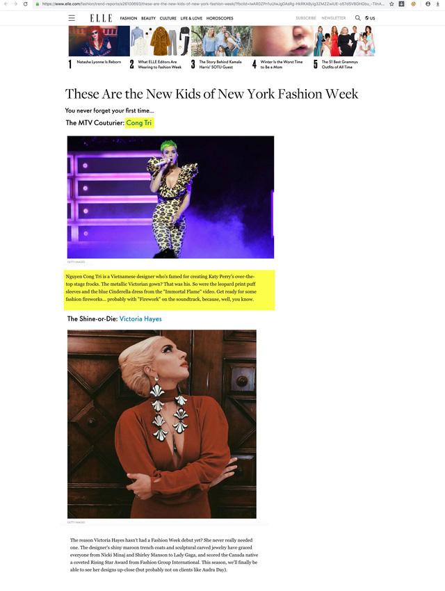 Nhà thiết kế Công Trí được tôn vinh trên tạp chí thời trang Mỹ - Ảnh 3.