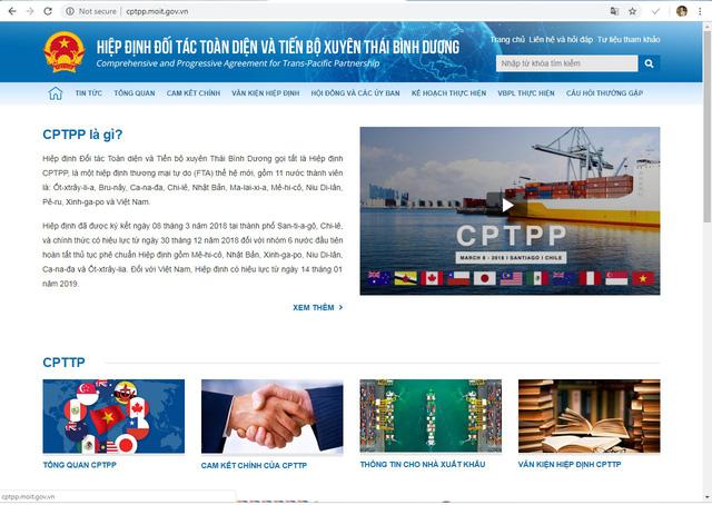 Ra mắt chuyên trang điện tử về Hiệp định CPTPP - Ảnh 1.