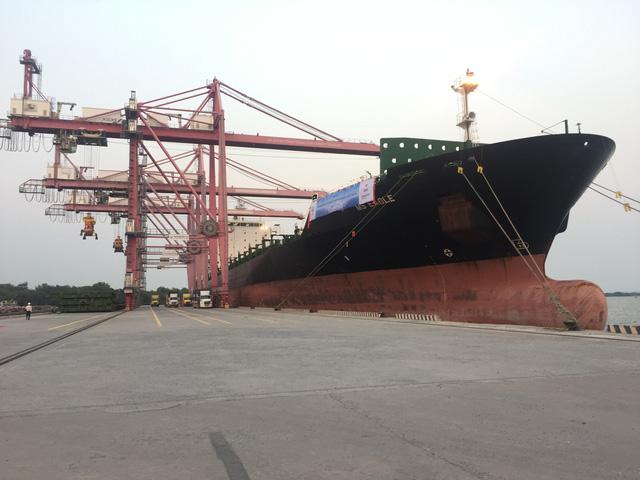 TP.HCM đón tàu khủng chuyển hàng hoá trực tiếp từ Australia - Ảnh 1.