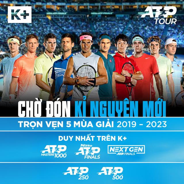 K+ công bố bản quyền phát sóng ATP World Tour - Ảnh 1.