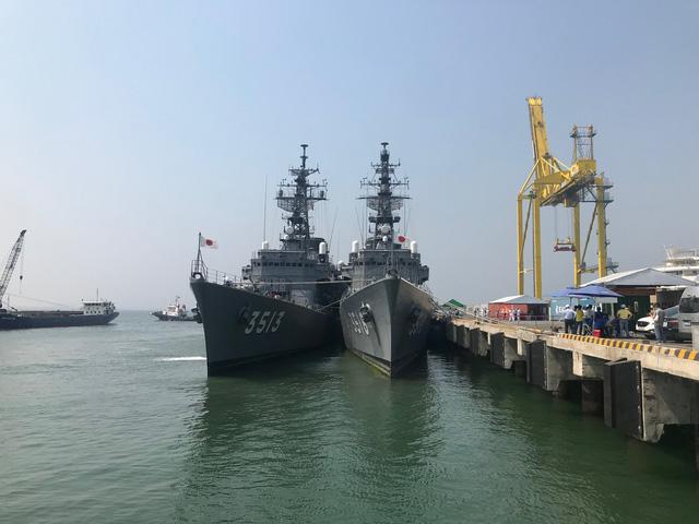 Tàu lực lượng phòng vệ trên biển Nhật Bản thăm Đà Nẵng - Ảnh 1.