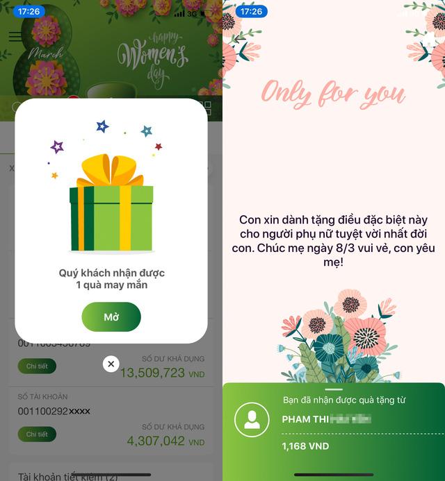 Gửi quà, quản lý tài khoản dễ dàng với VCB-Mobile B@nking - Ảnh 1.