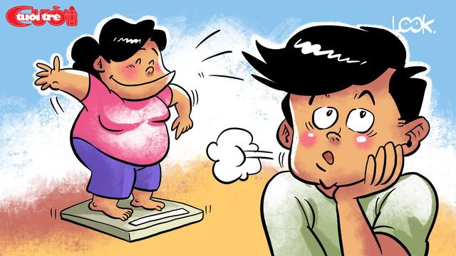Truyện cười: Vợ giảm cân - Ảnh 1.