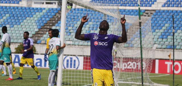 Omar Faye lập hat-trick, Hà Nội đè bẹp Yangon United tại AFC Cup - Ảnh 1.