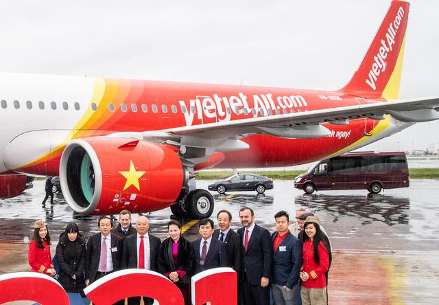 Vietjet nhận bàn giao máy bay thế hệ mới A321neo - Ảnh 1.