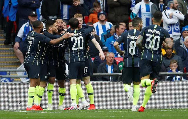 Jesus đại lập công, Man City hạ Brighton vào chung kết Cúp FA - Ảnh 1.