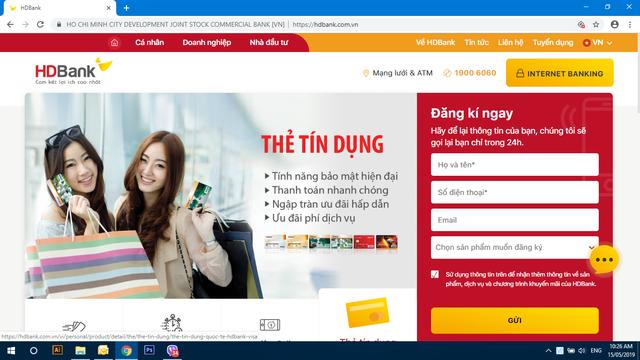 Tra cứu nhanh với website mới và ứng dụng mới HDBank mBanking - Ảnh 1.