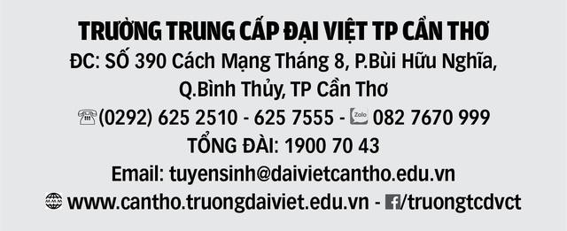 Trường Cao đẳng Đại Việt Sài Gòn (tại Cần Thơ) xét tuyển Cao Đẳng - Trung cấp chính quy năm 2019 - Ảnh 2.