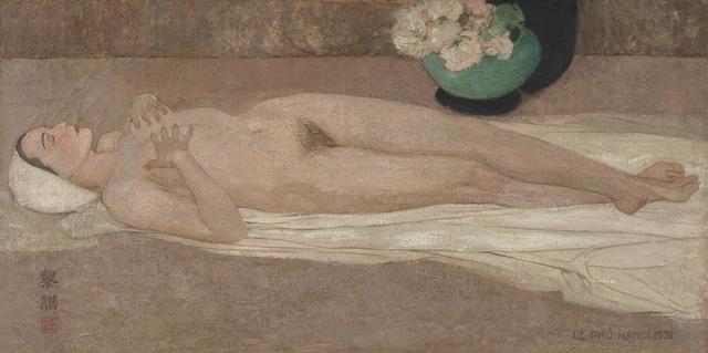 Tranh khỏa thân của Lê Phổ được mua giá kỷ lục 1,4 triệu USD - Ảnh 1.