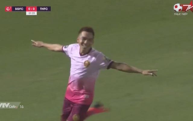 Clip 'tuyệt phẩm' cầu thủ CLB Sài Gòn với cú sút xa không thể cản phá