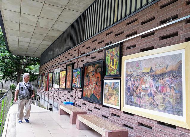 Triển lãm mỹ thuật Di sản văn hóa tại Quảng Nam - Ảnh 1.