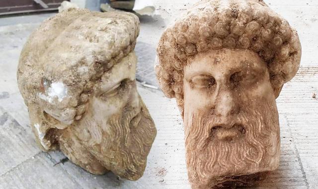 Phát lộ bức tượng cổ của thần Hermes ở thủ đô Hy Lạp - Ảnh 1.