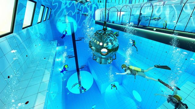 Lý thú với bể lặn sâu nhất thế giới tại Ba Lan - Ảnh 1.