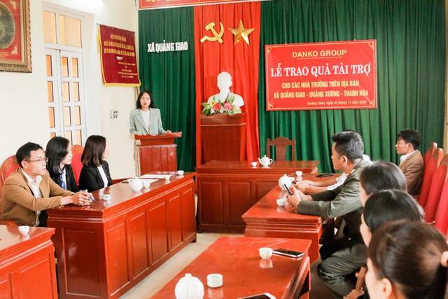 Danko Group trao Quỹ học bổng Danko cho các trường tại xã Quảng Giao, tỉnh Thanh Hóa - Ảnh 7.